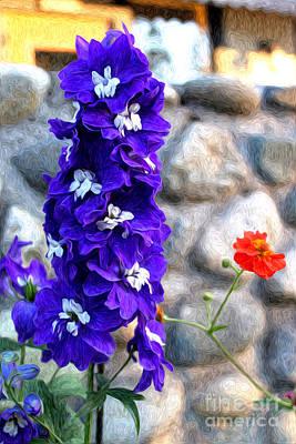 Tahoe City Flower Poster by Anne Raczkowski