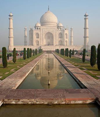 Taj Mahal Reflected Poster by Mike Reid
