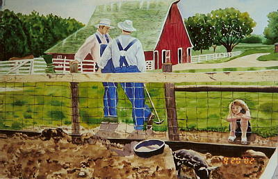 Taking A Break From The Chores Poster by DJ Bates