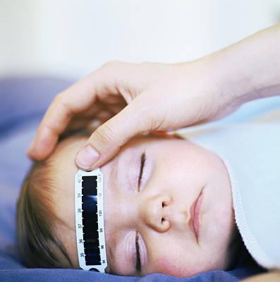 Taking Baby's Temperature Poster by Cristina Pedrazzini