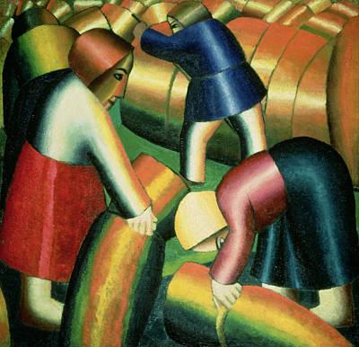 Taking In The Rye Poster by Kazimir Severinovich Malevich