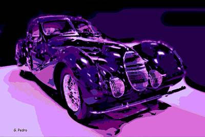 Talbot Lago Poster by George Pedro
