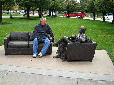 Talking To A Statue Poster