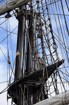 Tall Ship Mast Poster