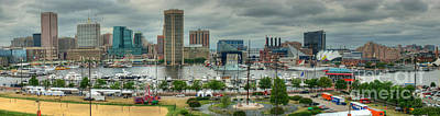 Tall Ships At Baltimore Inner Harbor Poster