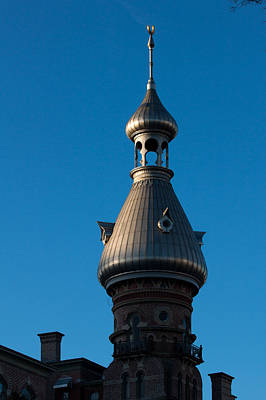 Poster featuring the photograph Tampa Bay Hotel Minaret by Ed Gleichman