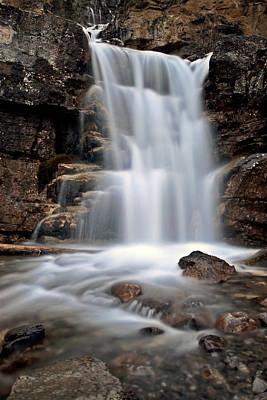 Tangle Waterfall Alberta Canada Poster