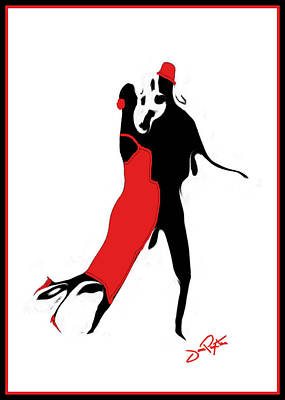 Poster featuring the drawing Tango 1 Card by Jann Paxton
