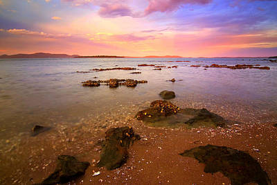 Poster featuring the photograph Tanilba Bay Sunset by Paul Svensen