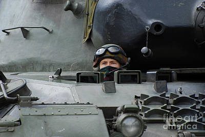 Tank Driver Of A Leopard 1a5 Mbt Poster
