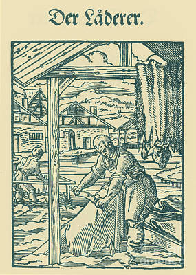 Tanner, Medieval Tradesman Poster by Science Source