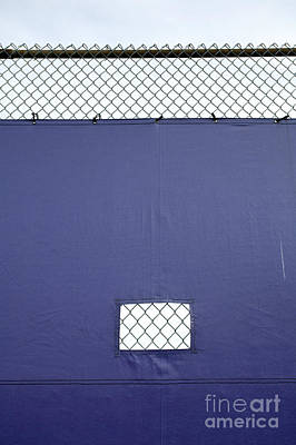 Tarp Covering Chain Link Fence Poster by Paul Edmondson