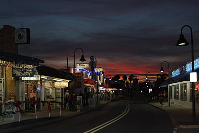 Poster featuring the photograph Tarpon Springs After Sundown by Ed Gleichman