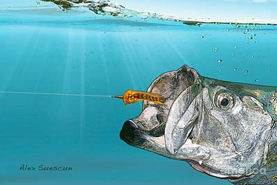 Tarpon Take Poster by Alex Suescun