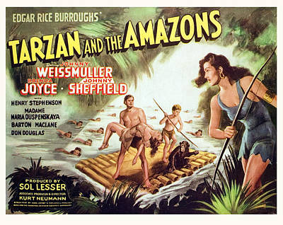 Tarzan And The Amazons, Johnny Poster by Everett