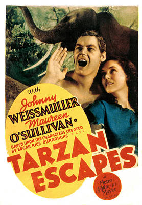 Tarzan Escapes, Johnny Weissmuller Poster