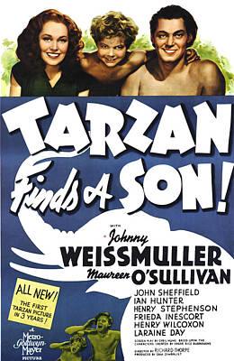 Tarzan Finds A Son, Maureen Osullivan Poster by Everett