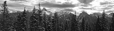 Tatoosh Mountain Range Panorama Poster by Twenty Two North Photography