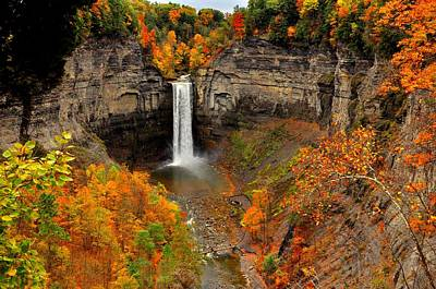 Taughannock Falls  Sate Park  New York  Poster by Puzzles Shum