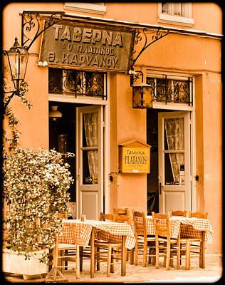 Athens, Greece - Taverna Poster
