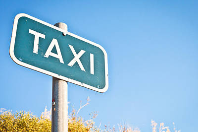 Taxi Sign Poster by Tom Gowanlock