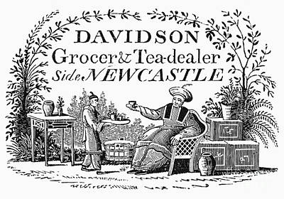 Tea Dealers Label, 1820 Poster