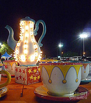 Poster featuring the photograph Tea Pot And Cups Ride by Renee Trenholm