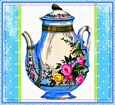 Poster featuring the digital art Tea Time by Mary Morawska