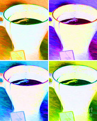 Tea Time Quiet Time - Four - V2 Poster by Wingsdomain Art and Photography