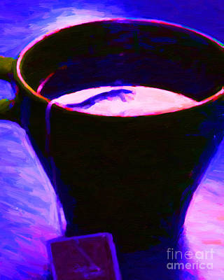 Tea Time Quiet Time - Purple Poster by Wingsdomain Art and Photography