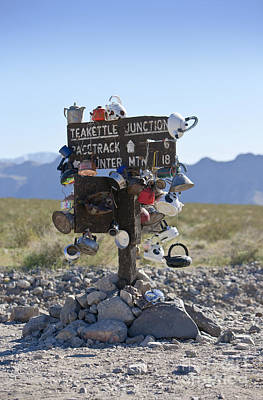 Teakettle Junction, Death Valley, California Poster