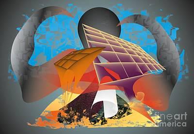 Poster featuring the digital art Technocrat by Leo Symon