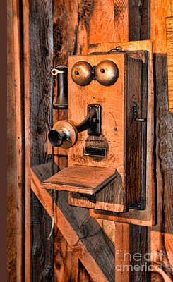 Telephone - Antique Hand Cranked Phone Poster by Paul Ward