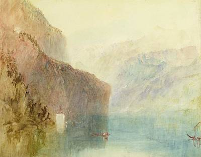 Tell's Chapel - Lake Lucerne Poster by Joseph Mallord William Turner
