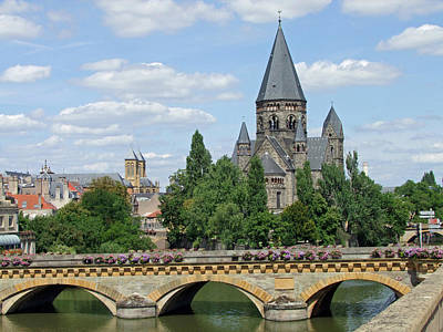 Poster featuring the photograph Temple Neuf De Metz Metz France by Joseph Hendrix