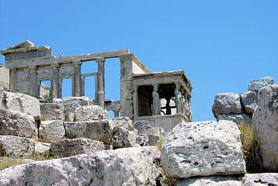 Temple Of Athena On Acropolis Poster