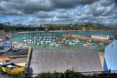 Poster featuring the photograph Tenby Harbour Pembrokeshire 1 by Steve Purnell