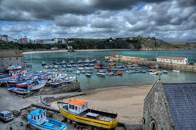 Poster featuring the photograph Tenby Harbour Pembrokeshire 2 by Steve Purnell
