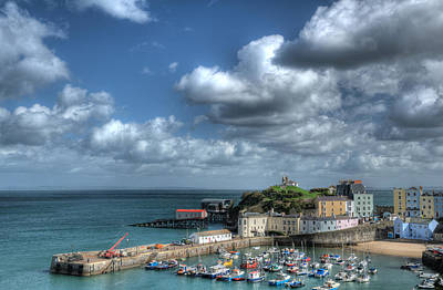 Poster featuring the photograph Tenby Harbour Pembrokeshire 3 by Steve Purnell