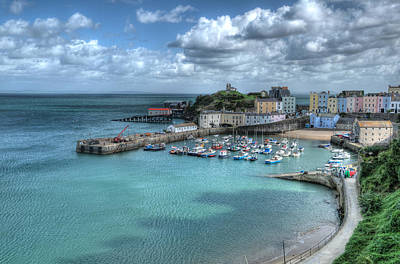 Poster featuring the photograph Tenby Harbour Pembrokeshire 4 by Steve Purnell