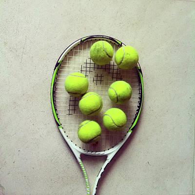 Tennis Poster by Shilpa Harolikar