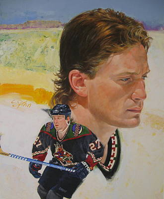 Poster featuring the painting Teppo Numminen by Cliff Spohn