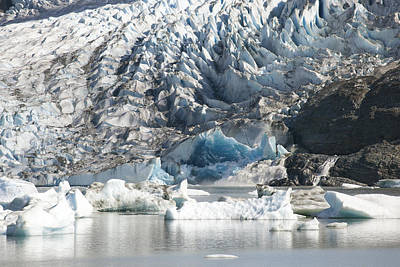 Terminal Moraine And Glacial Lake Poster by Matthias Breiter