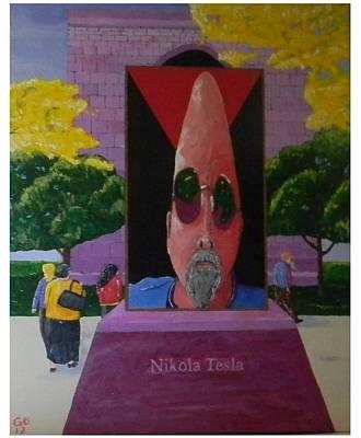 Tesla Returns Poster by Gilbert Bernhardt