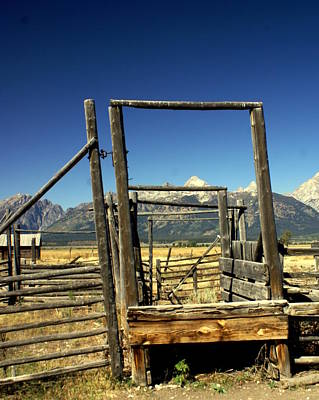 Poster featuring the photograph Teton Ranch by Marty Koch