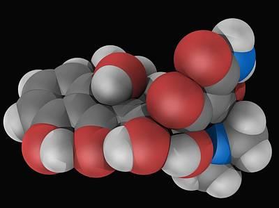 Tetracycline Drug Molecule Poster by Laguna Design