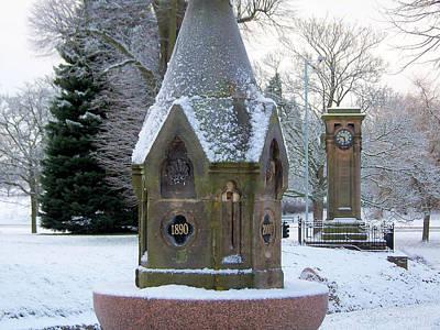Tettenhall Village Snow Poster