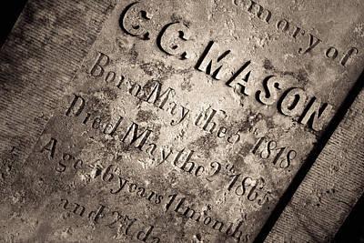 Tcm - C.c. Mason Grave Poster by Trish Mistric