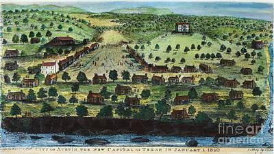 Texas: City Of Austin 1840 Poster