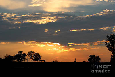 Poster featuring the photograph Texas Sized Sunset by Kathy  White
